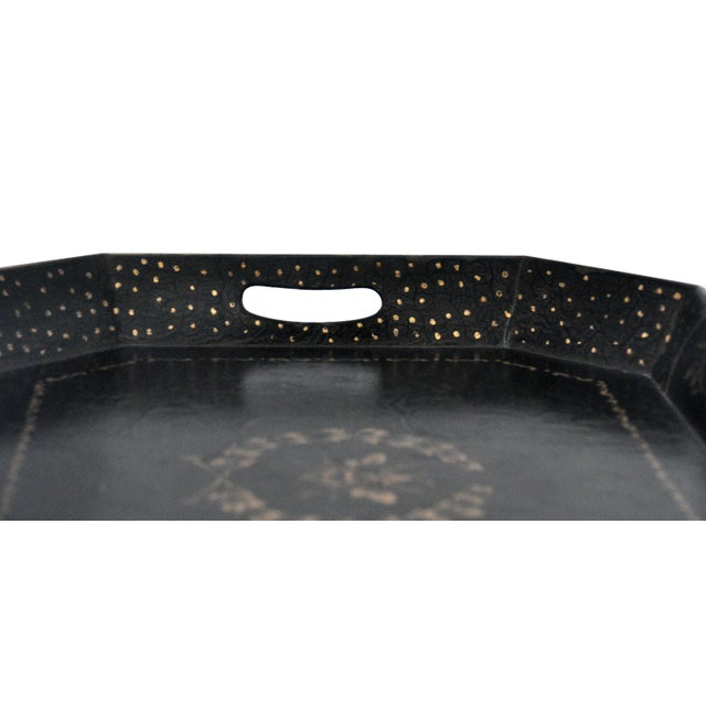 Chinoiserie Bee Motif Metal Serving Tray - Image 2 of 7