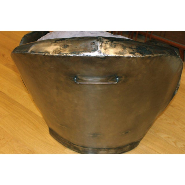 Hand Welded Unusual Steel Chair For Sale - Image 4 of 8