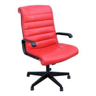 Mid-Century Modern Richard Sapper for Knoll Sapper Red Executive Ergonomic Chair For Sale