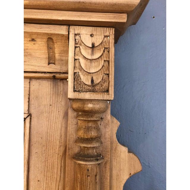 Vintage Swedish Natural Carved Wood Mirror For Sale In Philadelphia - Image 6 of 13