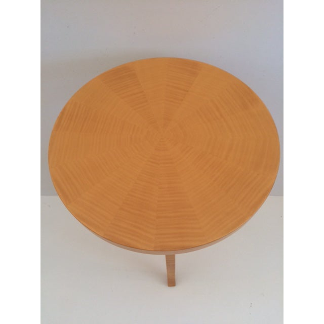 Todd Hase Sycamore Marquetry Gueridon Table For Sale - Image 9 of 10
