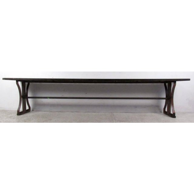 Industrial Modern Iron Bench - Image 6 of 6