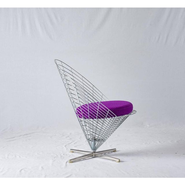 "1950s Verner Panton ""Wire Cone"" Chair For Sale - Image 5 of 11"
