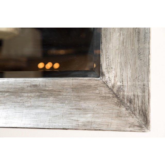 2010s Paul Marra Distressed Silvered Frame Mirror For Sale - Image 5 of 7