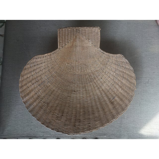 Vintage Wicker Shell Bowl For Sale - Image 4 of 5