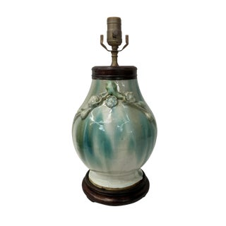 19th Century Chinese Chin Dynasty Chun Ware Vase Lamp For Sale