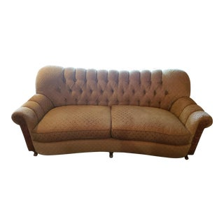 Arhaus Tufted Chenille Sofa For Sale