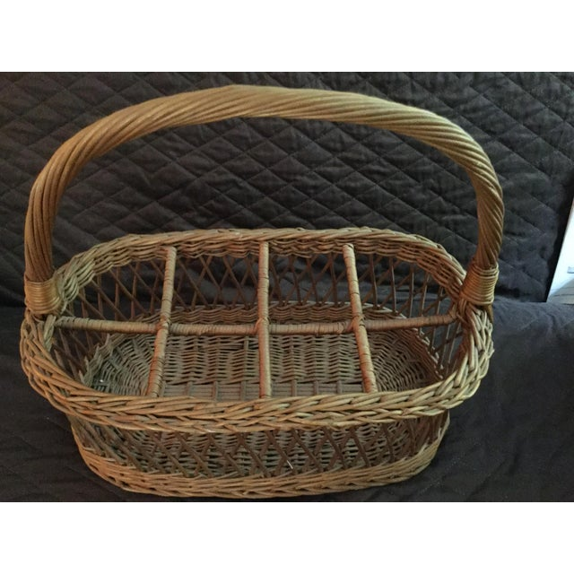 American Vintage Rustic Storage Basket For Sale - Image 3 of 6