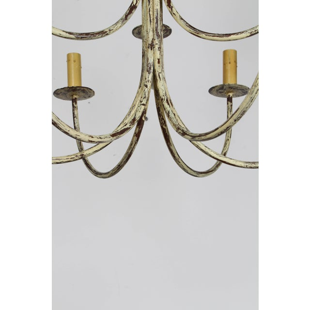 Vintage Mid-Century Rustic Chandelier For Sale - Image 4 of 6