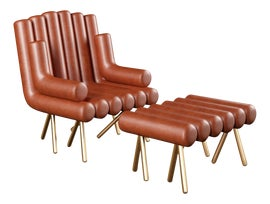 Image of Art Deco Chair and Ottoman Sets