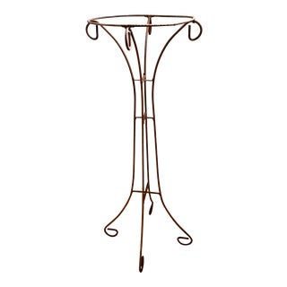 "Antique Iron Plant Stand - 33""h x 14"" x 14"" For Sale"
