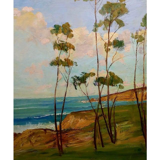 """James Merriam James Arthur Merriam """"California Coastline"""" Oil Painting For Sale - Image 4 of 8"""