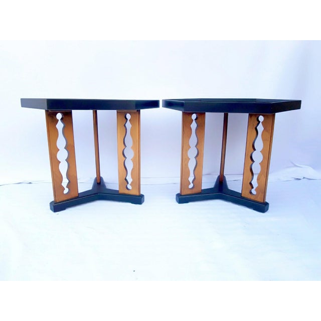 Mid-Century Modern 1960s Mid-Century Drexel Esperanto Drink Tables - a Pair For Sale - Image 3 of 6