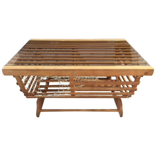 Modern Nautical Lobster Trap Coffee Table - Image 1 of 8