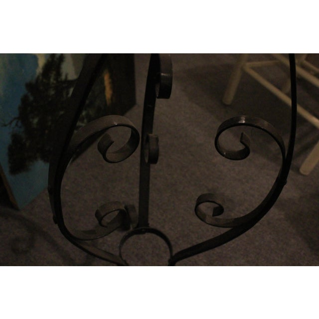 Mid 20th Century Black Cast Iron Plant Stand For Sale - Image 5 of 9