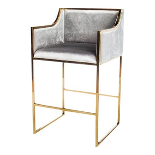 Erin Gold & Gray Bar Chair