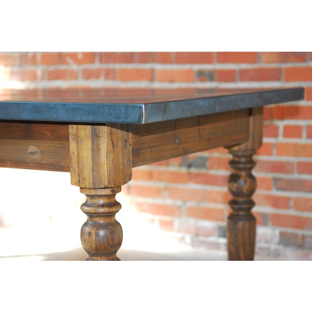 Zinc Topped Farm Table - Image 4 of 11