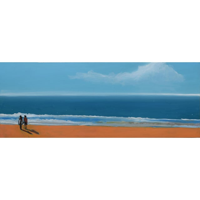 """""""By the Sea"""" Geoff Greene Oil Painting For Sale - Image 10 of 10"""