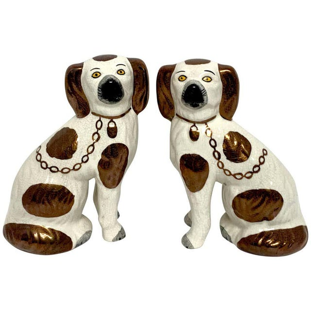 19th Century Staffordshire Diminutive Copper Luster Dogs - a Pair For Sale - Image 10 of 10