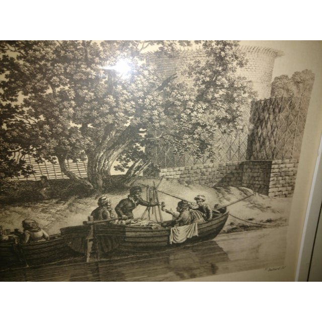 "Copper Antique Paris ""Egyptian Mosque"" Engraving Print For Sale - Image 7 of 13"