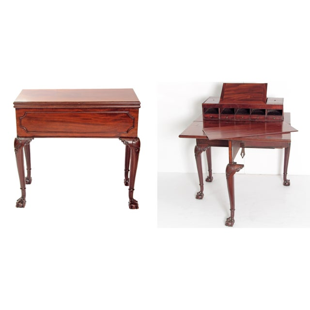 A George II Mahogany Harlequin Table For Sale - Image 13 of 13