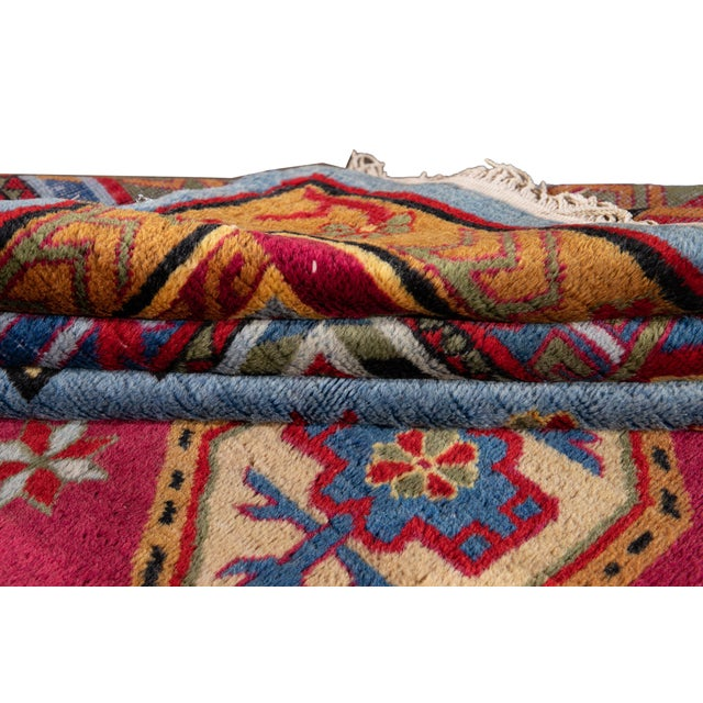 1960s Mid-20th Century Vintage Khotan Rug 6' 10'' X 9' 7''. For Sale - Image 5 of 13