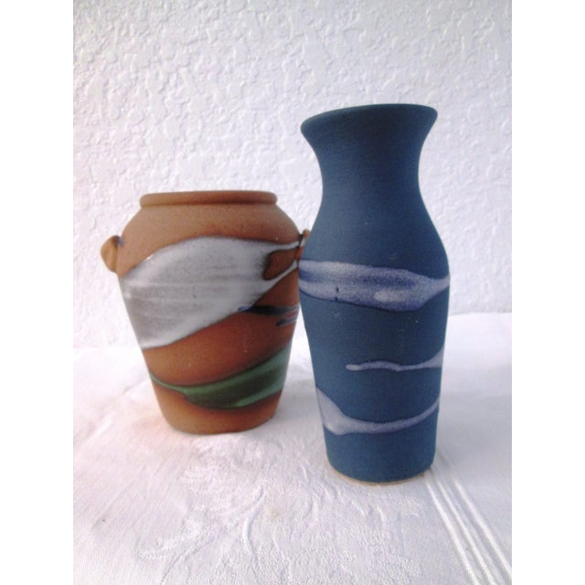 Free-Form Studio Pottery Vases - A Pair - Image 2 of 8
