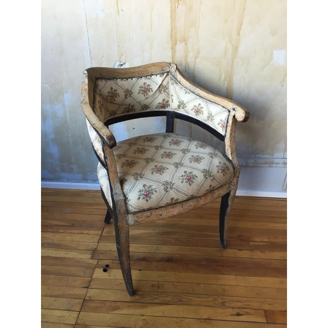 This Early 19th Century Italian antique arm chairs is quite nice to look at, almost like a piece of antique artwork....