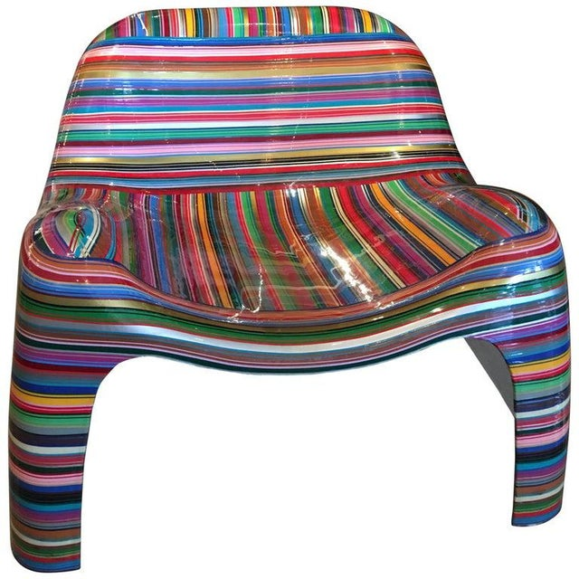 """1990s Mauro Oliveira """"Hard Candy"""" Painted Chair For Sale - Image 5 of 5"""