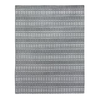 Exquisite Rugs Caudry Hand Loom Wool Dark Gray - 8'x10' For Sale