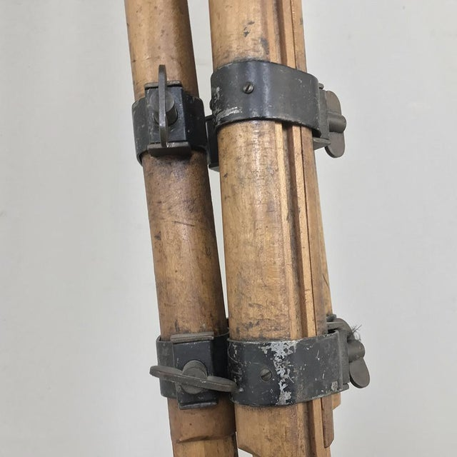 White Antique French Surveyors Floor Lamp For Sale - Image 8 of 13