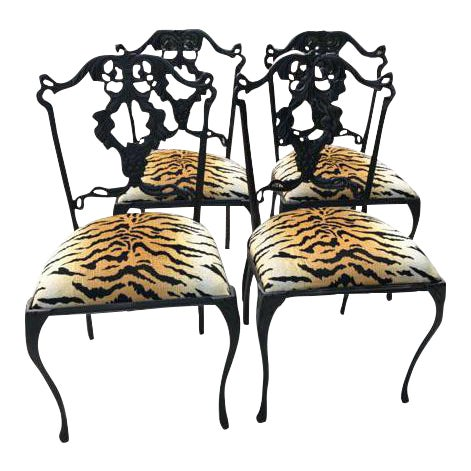 French Garden Chairs - Set of 4 - Image 1 of 6