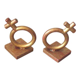 Wrought Iron Venus Bookends by Jere For Sale