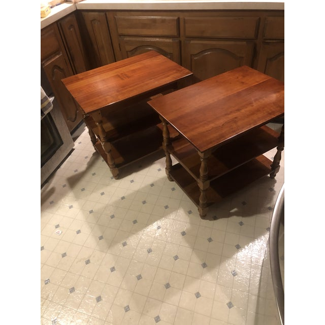 1950s Cherry Stickley End Tables - a Pair For Sale - Image 12 of 13