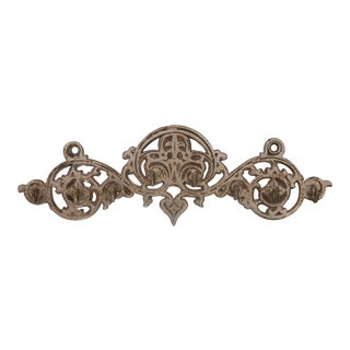 Vintage Ornate Iron Wall Hooks For Sale