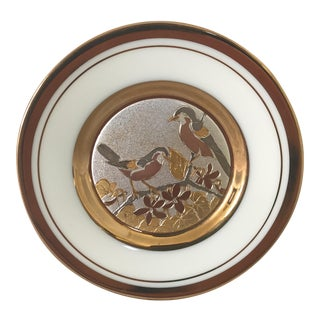 Decorative Gilded Ceramic Chokin Plate For Sale
