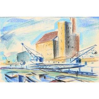 Charles Blaze Vukovich Pastel Drawing - Cranes For Sale