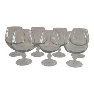 Crystal Brandy Snifers - Set of 7 For Sale