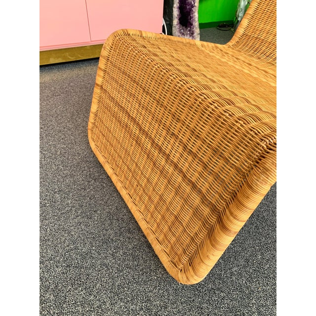 Tan Pair of Rattan Lounge Chair P3 by Tito Agnoli. Italy, 1960s For Sale - Image 8 of 12