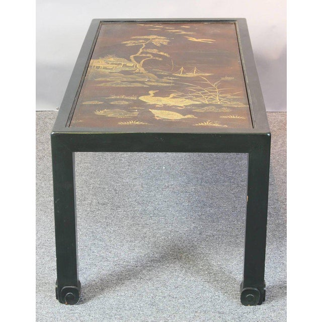 Chinoiserie Lacquered Cocktail Table For Sale - Image 4 of 11