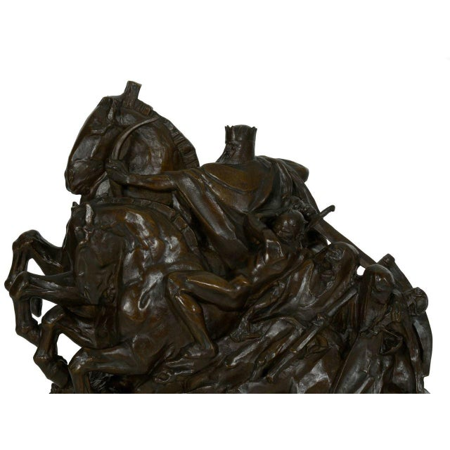 """Early 20th Century """"The Four Horsemen of the Apocalypse"""" Bronze Sculpture by Lee Oscar Lawrie (German/American, 1877-1963) For Sale - Image 5 of 13"""