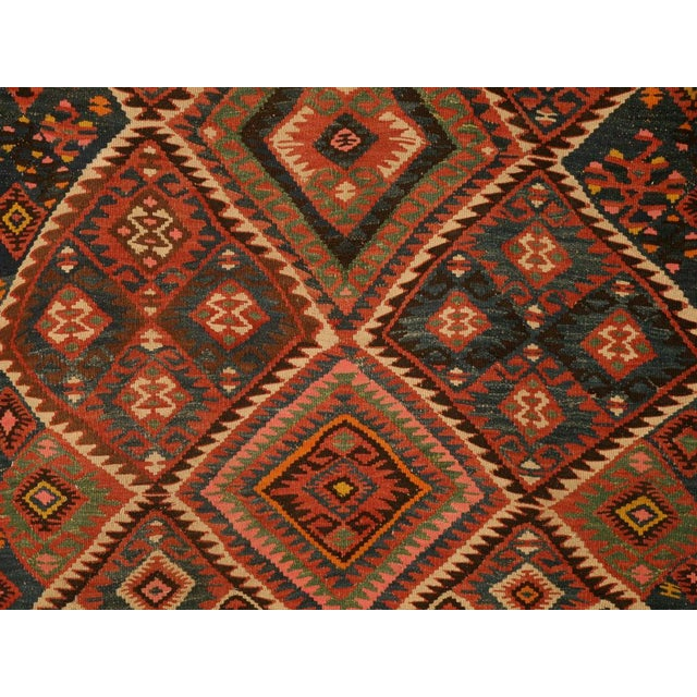 Circa 1930 Persian Kilim Geometric Patterned Rug - 5′2″ × 7′11″ For Sale - Image 4 of 10