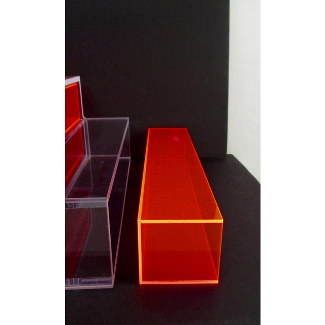 Pink Block Lucite Display Shelving - Image 6 of 10