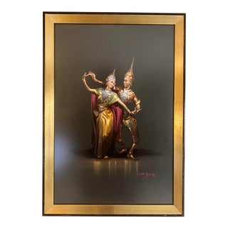1960s Traditional Pose Siam Dancers Framed Print For Sale
