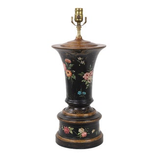 Vase Lamp With Gold and Ochre Details Featuring Multiple Famille Roses For Sale