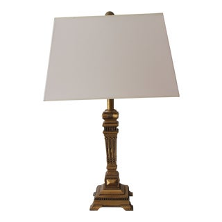 Gold Grecian Column Table Lamp For Sale