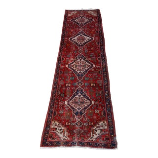 """Extra Large Persian Hand Woven Hamadan Runner - 16' X 4' 8"""" For Sale"""