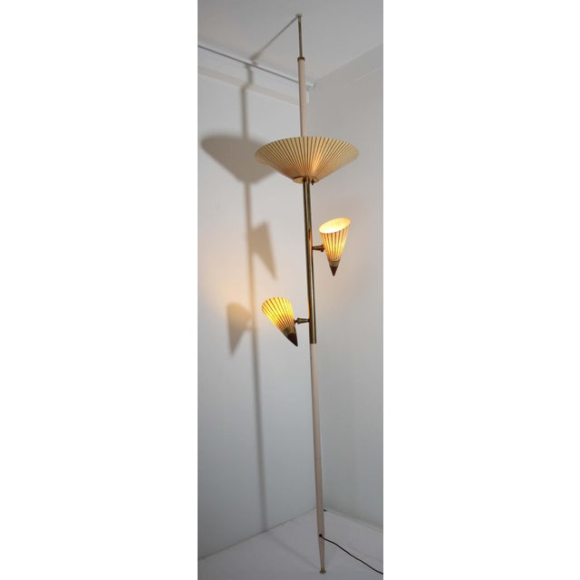 1950s Adjustable Vintage Three Shades Extension Pole Lamp by Gerald Thurston For Sale - Image 11 of 13