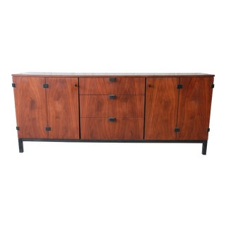 Milo Baughman for Directional Mid-Century Modern Walnut Credenza or Triple Dresser For Sale