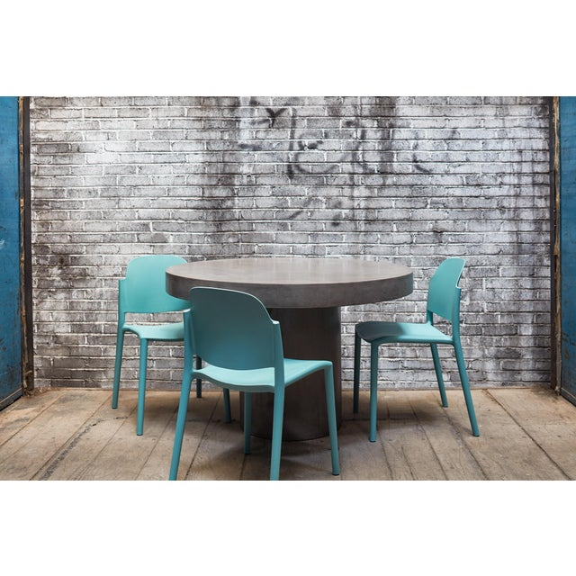 """Dark Grey Circa 47"""" Dining Table For Sale - Image 4 of 7"""
